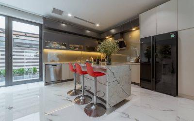 Những nét đặc trưng trong thiết kế nội thất phòng bếp theo phong cách hiện đại